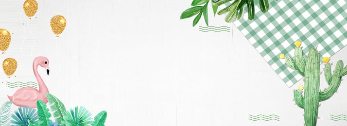 新鮮でシンプルなins風ポスターの背景 単純な 新鮮な フラミンゴ イン風 格子縞の布 気球 グリーンプラント フラミンゴポスター 純赤い風 サボテン, 新鮮でシンプルなins風ポスターの背景, 単純な, 新鮮な 背景画像