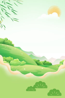 simple green concise refreshing , Literary, Plant, Willow Background image