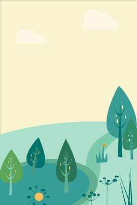 simple green concise refreshing , Literary, Plant, Trees Background image