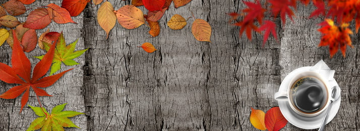 Simple Maple Leaf Fallen Leaves Fall, Wood Grain, Autumn, Propaganda, Background image