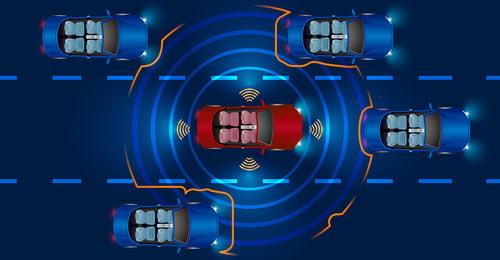 बुद्धिमान कार स्वचालित ड्राइविंग दृश्य स्मार्ट कार स्वचालित ड्राइविंग स्थल इंटरनेट नीला पृष्ठभूमि सेवा प्रौद्योगिकी, पृष्ठभूमि, बुद्धिमान, मानवरहित पृष्ठभूमि छवि