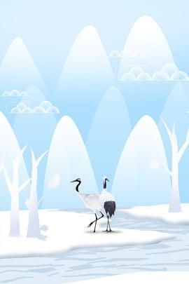 Crane Ice Day Hình Nền