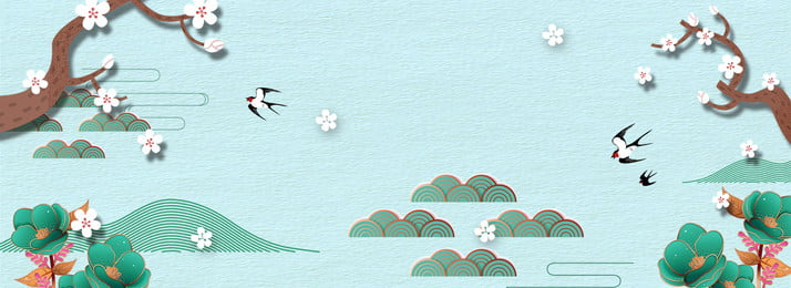 Spring Peach Tree Branch Swallow China, Traditional, Antiquity, Beginning Of Spring, Background image