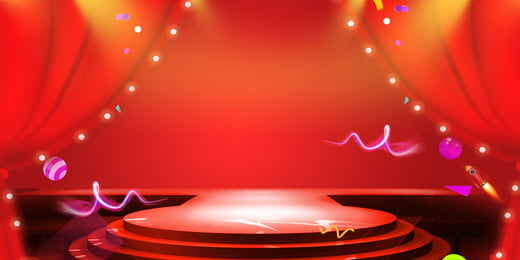 Stage Curtain Passion Carnival, Red, Poster, Stage, Background image