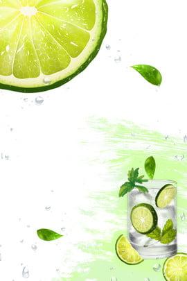 夏日檸檬飲品 夏日 清涼 清新 檸檬 飲品 薄荷葉 清爽 簡約 , 夏日檸檬飲品, 夏日, 清涼 背景圖片