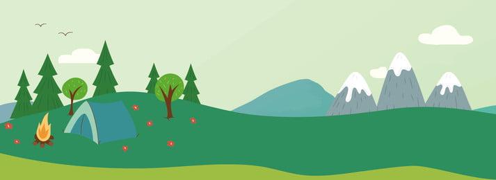 ग्रीष्मकालीन ताजा हरे रंग की यात्रा बैनर गर्मी ताज़ा ग्रीन यात्रा का बैनर ताजा रंग गर्मी ताज़ा पृष्ठभूमि छवि