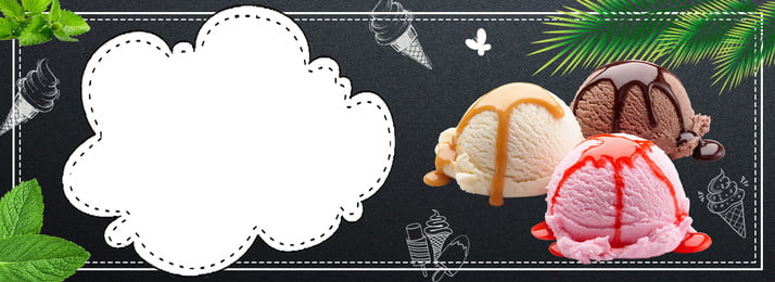 banner de cartaz de sorvete simples de verão verão sorvete sorvete propaganda poster publicidade banner plano de fundo, Fundo, Banner De Cartaz De Sorvete Simples De Verão, Verão Imagem de fundo