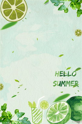 summer leaf green fresh summer , Fruit Juice, Lemon Poster, Juice Poster Background image