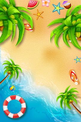 Áp phích biển mùa hè mùa hè Đại dương bãi , Truyền, Áp, Cảnh Ảnh nền