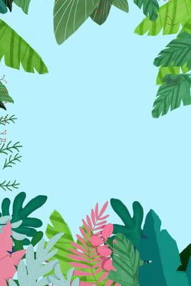 식물 상쾌한 여름 포스터 여름 포스터 나뭇잎 식물 상쾌 여름 여름 녹색 상쾌한 , 여름, 식물 상쾌한 여름 포스터, 포스터 배경 이미지
