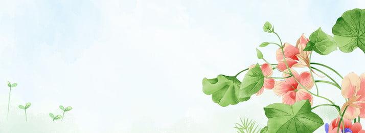 處暑荷塘主題海報 處暑 簡約 文藝 清新 水墨 荷花 綠色 枝葉 古風, 處暑, 簡約, 文藝 背景圖片