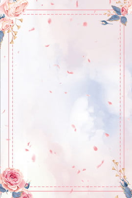 Summer Solstice Pink Flowers Pink Petals Chinese Style, Plane Background, Psd Layering, Poster, Background image
