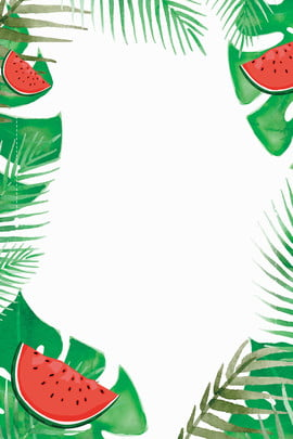 summer watermelon plant leaf , Green Leaf, Leaves, Cool Background image