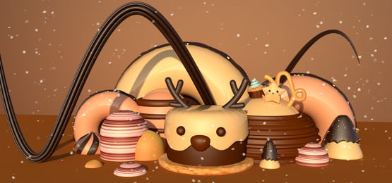 tema gula gula yang berwarna warni manis capricorn manis coklat warna coklat constellation capricorn latar belakang, C4d, Snowflake, Elk imej latar belakang