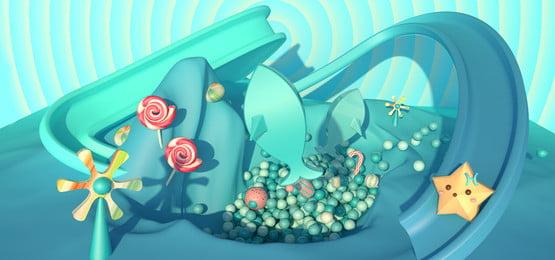 Sweet Candy Chòm sao chủ đề Song Ngư Ngọt ngào Màu kẹo Chòm Sóng Hoạt Ngư Hình Nền