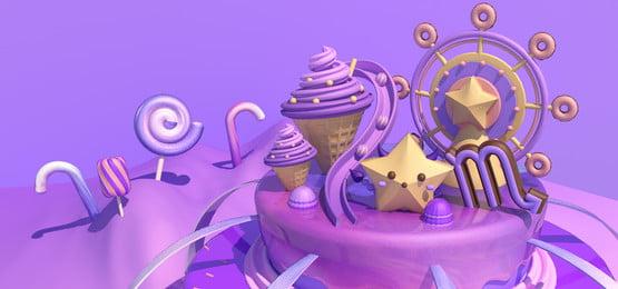 sweet candy chòm sao chủ đề bọ cạp ngọt ngào kẹo chòm sao bò, Sweet Candy Chòm Sao Chủ đề Bọ Cạp, C4d, Vòng Ảnh nền