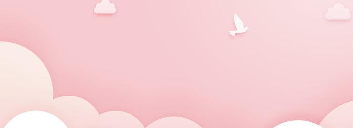 浪漫粉紅可愛背景 甜蜜 浪漫 粉色系 少女心 服裝背景 可愛風 卡通 文藝, 甜蜜, 浪漫, 粉色系 背景圖片