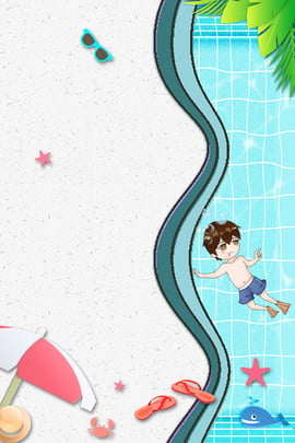 swim children swimming swimming poster swimming contest , Summer, Summer Swimming, Summer Tourism Background image