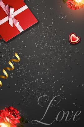 hộp quà tặng ngày valentine red rose black quảng cáo nền tanabata ngày lễ tình , Tình, Nhân, Hộp Ảnh nền