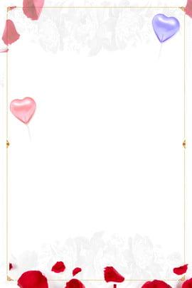 Cartaz chinês das pétalas de Rosa do dia dos namora Tanabata Dia dos namorados Rose Pétala Balão Branco Romântico Tanabata Dia Dos Imagem Do Plano De Fundo
