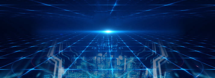 互聯網炫光科技創意背景 科技 商務 藍色背景 炫光 光暈 幾何 線條 創意 簡約, 科技, 商務, 藍色背景 背景圖片