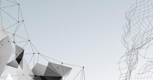 테크 포인트 라인 흑백 기하 포스터 기술 데이터 선 점선 단순한 흑인과 백인 기하학, 백인, 기하학, 기술 배경 이미지