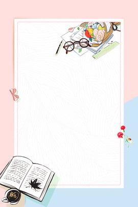 교과서 안경 통치자 카네이션 , 따뜻한, 펜, 만화 배경 이미지