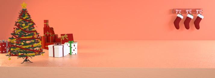c4d 크리스마스 축제 웜 배너 3 차원 따뜻한 축제 크리스마스 크리스마스 스타킹 빨간색 배너 따뜻한 편안한 성실, C4d 크리스마스 축제 웜 배너, 스타킹, 빨간색 배경 이미지