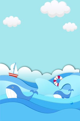 Tiffany Blue Creative Vẽ tay Cá voi biển Poster Tiffany xanh Vẽ tay Bên Xanh Văn Triển Hình Nền