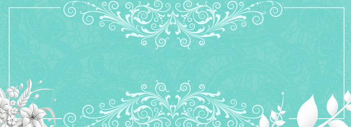 tiffany blue lace shading paper cut flower senior blue, Simple, Literary, Romantic Background image