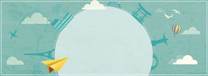 旅遊建築飛機鳥, 熱氣球, 雲, 文學風格 背景圖片