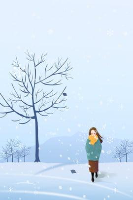 Warm Clothing Girl Hình Nền
