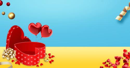valentines day literary warm romantic, Fresh, Rose Petal, Heart-shaped Gift Box Background image