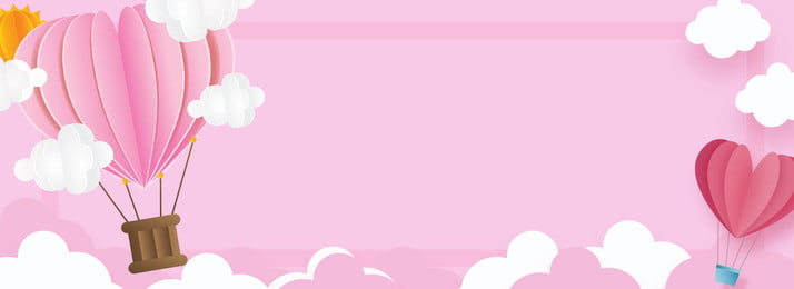 valentines day pink 214 balloon, Cartoon Cloud, Valentines Day Poster, Cartoon Background image