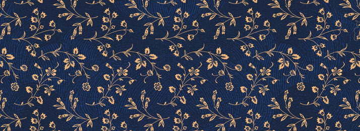 vintage flowers flower shading shading pattern, Ink-blue Colour, Gold, Flower Background image