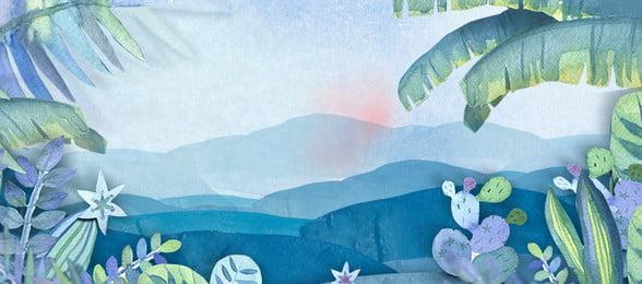 Banner Poster Watercolor 背景画像