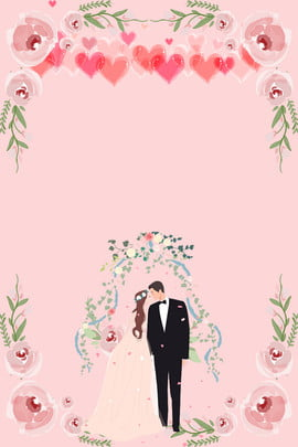 婚禮邀請函背景圖 婚禮邀請函 創意合成 婚禮場景 唯美 浪漫 高大上 中式婚禮 賓客 新娘新郎 簡約大氣 中國 , 婚禮邀請函, 創意合成, 婚禮場景 背景圖片
