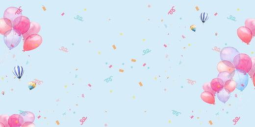 結婚式のロマンチックな暖かい青いバナーのダウンロード 結婚式 パウダーリボン ロマンチックな 結婚式 バレンタインデー ブルー 告白 気球 結婚式 パウダーリボン ロマンチックな 背景画像