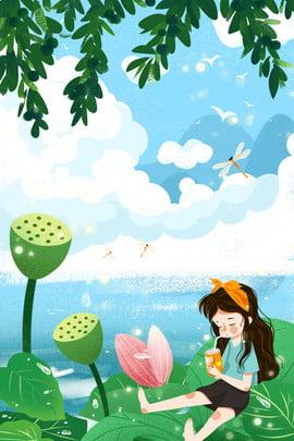 Bailu Lễ hội lần thứ 24 Lotus Pond Lotus Girl Dew Sương trắng Hai mươi Sen Hoa Gái Hình Nền