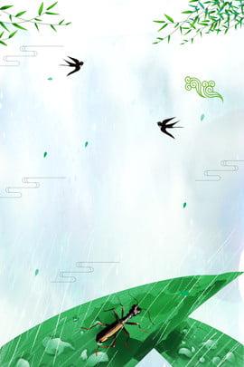 バイル第24回祭りの緑の葉のツバメポスター 白い露 24ソーラーターム 伝統的なソーラー用語 習慣 文学 新鮮な 緑の葉 蟋蟀 飲み込む , 白い露, 24ソーラーターム, 伝統的なソーラー用語 背景画像