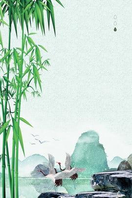 白竜二十四祭竹林白鶴ポスター 白い露 24ソーラーターム 伝統的なソーラー用語 習慣 文学 新鮮な 竹の森 中華風 ホワイトクレーン ファーマウンテン ロック , 白い露, 24ソーラーターム, 伝統的なソーラー用語 背景画像