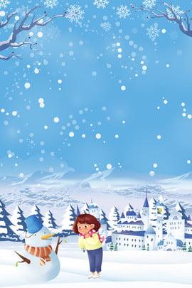 Kỳ nghỉ mùa đông trại mùa đông người tuyết trẻ em tuyết lâu đài poster Trại đông Kỳ nghỉ Tuyết Kỳ Nghỉ Hình Nền