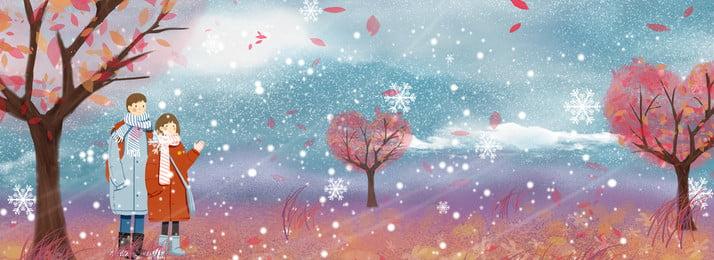 hoa anh đào mùa đông đẹp lãng mạn, Cuộc Hẹn, Cặp đôi, Nhân Vật Ảnh nền