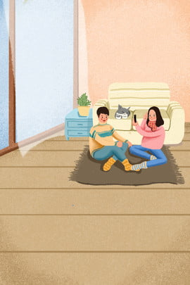 winter home holiday couple , Clothing, Skin Care Products, Time Background image