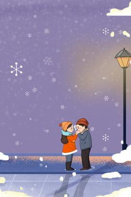 winter night street couple , Clothing, Travel, Warm Background image
