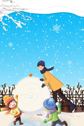 winter snowball snowball fight blue , Snowflake, Snow Scene, Child Background image