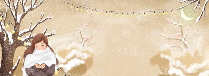 winter snowflake trees forest, Girl, Cotton Clothing, Clothing Background image