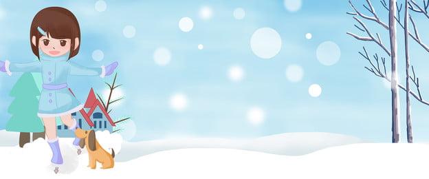 겨울 겨울 캠프 시즌 스키 소녀 배너 겨울 관광 겨울 스포츠 겨울, 여행, 스노우, 소녀 배경 이미지