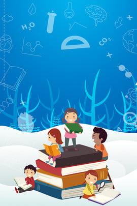 vẽ tay tối giản tuyết học trẻ em mùa đông đăng ký lớp học kỳ nghỉ kỳ nghỉ đông trường , Cảnh, Vấn, Tuyết Ảnh nền