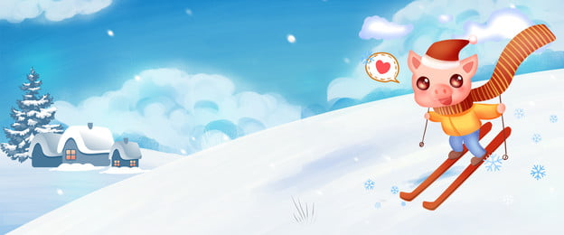winter winter camp ski pisang musim sejuk kem musim, Winter Winter Camp Ski Pisang, Sejuk, Kem imej latar belakang